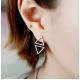 Woman Fashion SIlver Triangle star Female Earrings  E-04S