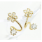Woman Gold Sweet Diamond Flowers Earrings E-07G