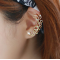 Women Butterfly U Shaped Gold Ear Clip E-09G