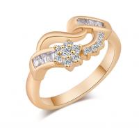 Woman Fashion 18K Gold Zircon Rings  R-08G