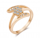 Women Zirconium Crystals Fashion New Palm Gold plated Rings R-10G image