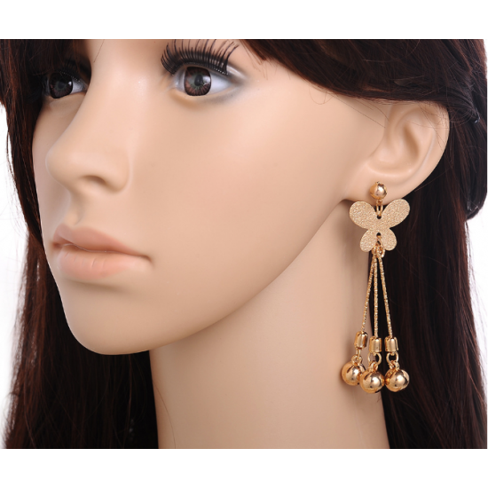 Women Fashion Romantic  Beautiful Butterfly Style Earrings  E-23G