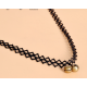 Women Simple Bell Hanging Lace Necklace N-08 (Black) image