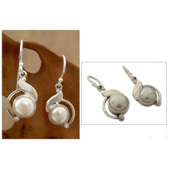 India Rapture Pearl  Artisan Jewelry Earrings ANDE-10