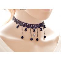 Women Fashion Retro Lace Necklace  N-19 (Black)