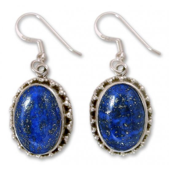 Blue Mystique Hand Crafted Sterling Silver and Lapis Lazuli Earrings ANDE-12