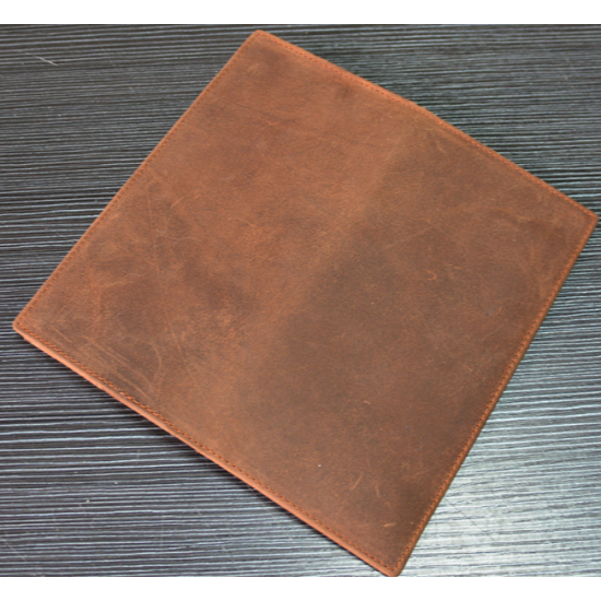 Genuine Horse Leather Skin Long Type Two Fold Multi-Card With Zip Wallet MW-01Z