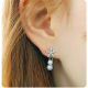 Women Fashion Paragraph Flower with Hanging Peal Earrings E-02S
