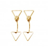 Woman Fashion Triangle Star Female Earrings  E-04G
