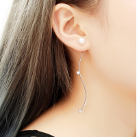 Woman Fashion New Long Style S Wave  Earrings  E-05S