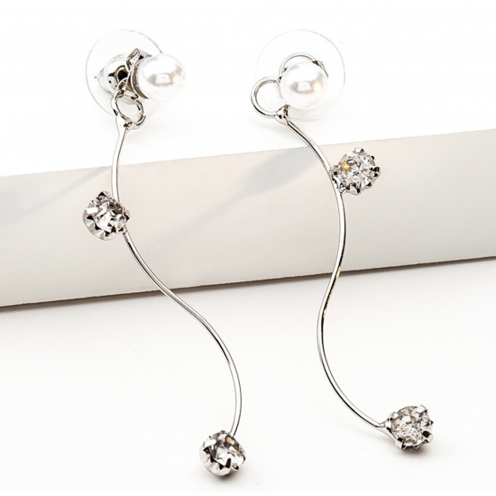 Woman Fashion New Long Style S Wave  Earrings  E-05S