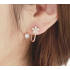 Woman Rose Gold Sweet Diamond Flowers Earrings E-07R