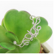 Women Butterfly U Shaped Silver Ear Clip E-09S