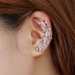 Women Butterfly U Shaped Silver Ear Clip E-09S image