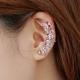 Women Butterfly U Shaped Silver Ear Clip E-09S
