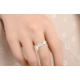 Woman Cherry Blossom Silver Ring R-01S image