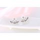 Woman Fashion Silver Small Daisy Flowers Earrings E-20S image