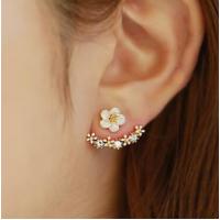 Woman Fashion Silver Small Daisy Flowers  Earrings   E-20RG