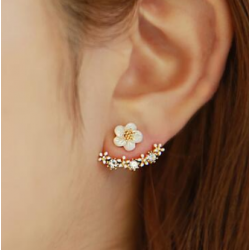 Woman Fashion Silver Small Daisy Flowers  Earrings   E-20RG