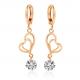 Woman Fashion Double Heart Love GoldPlated Earrings E-24W image