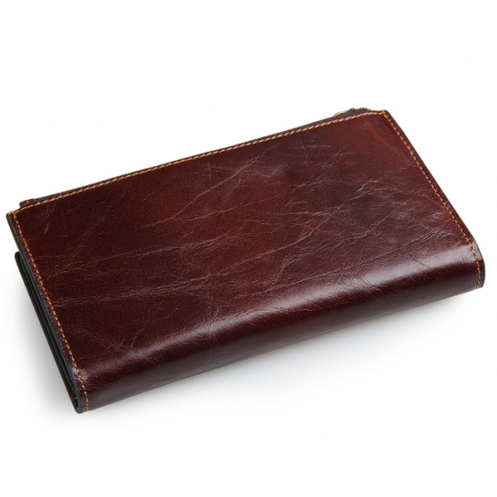 Men's Style Long Multi Slots Business  Wallet MW-04BR