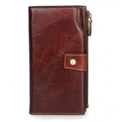 Men's Style Long Multi Slots Business  Wallet MW-04BR