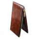 Ultra-thin Brown Simple Multi-Card Leather Zipper Long Wallet  MW-05BR