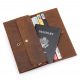 Men's Style Double Layer Card Holder Boarding Long Wallet  MW-07BR