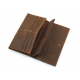 Men's Style Double Layer Card Holder Boarding Long Wallet MW-07BR image