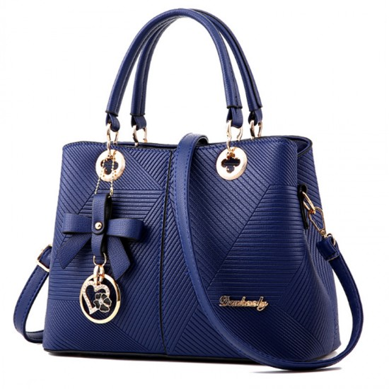 Blue Color Embossed Shoulder Square Style Zipper Handbags For Women WB-18BL image