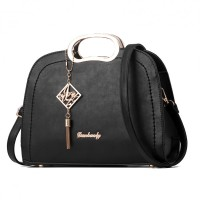 Black Color Trendy Leisure shoulder Messenger Handbag For Womens WB-19BK