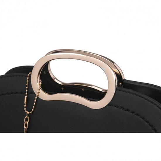 Black Color Trendy Leisure shoulder Messenger Handbag For Womens WB-19BK