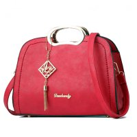 Red Color Trendy Leisure shoulder Messenger Handbag For Womens WB-19RD