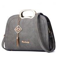 Grey Color Trendy Leisure shoulder Messenger Handbag For Womens WB-19GR
