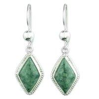 Light Green Handcrafted Jade Earrings ANDE-23