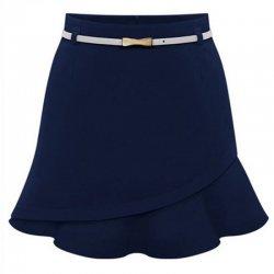 Women Fashion Irregular Blue Color Mini Skirt WC-23BL