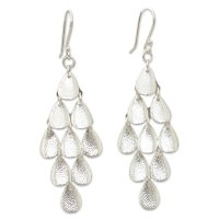 Rain Modern Sterling Sliver Chandelier Earrings ANDE-29