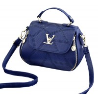 Women Fashion V Small Square Shape Blue Color Handbag WB-20BL