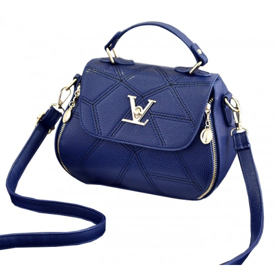 Women Fashion V Small Square Shape Blue Color Handbag WB-20BL image