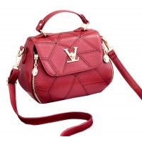 Women Fashion V Small Square Shape Red Color Handbag WB-20RD