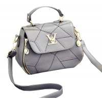 Women Fashion V Small Square Shape Grey Color Handbag WB-20GR