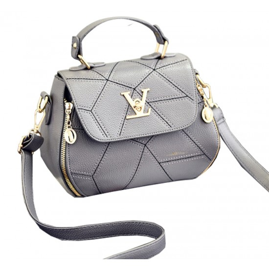 Women Fashion V Small Square Shape Grey Color Handbag WB-20GR image