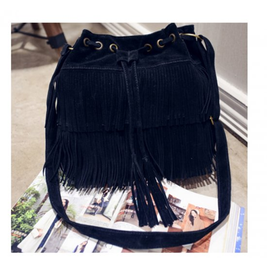Women Fashion Square Shape Black Color Shoulder Handbag WB-21BK image