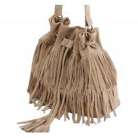 Women Fashion Square Shape Cream Color Shoulder Handbag WB-21CR