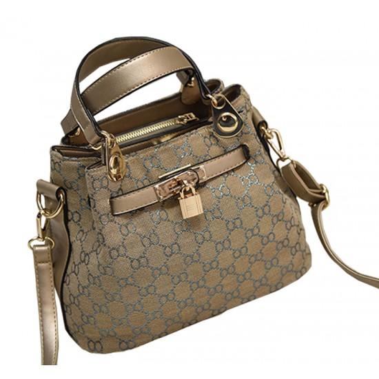 European And American Style Kelly Retro Gold Color Shoulder Handbag WB-23 image