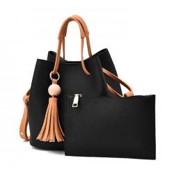 Women Fashion Wild Shoulder Messenger Black Color Handbag WB-25BK