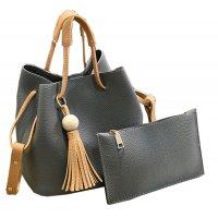Women Fashion Wild Shoulder Messenger Grey Color Handbag WB-25GR