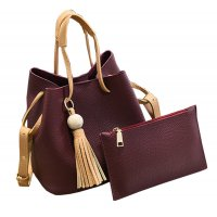 Women Fashion Wild Shoulder Messenger Red Color Handbag WB-25RD
