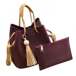 Women Fashion Wild Shoulder Messenger Red Color Handbag WB-25RD