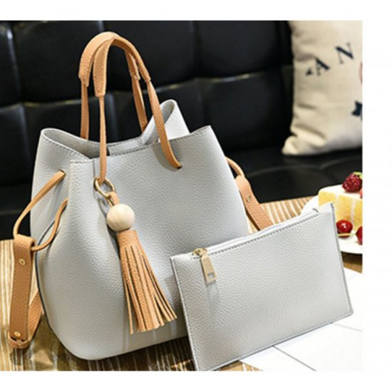Women Fashion Wild Shoulder Messenger White Color Handbag WB-25W image